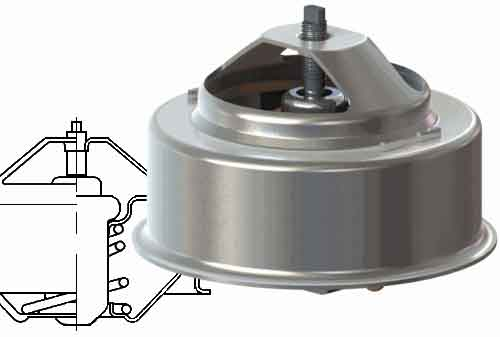 Термостат для УАЗ 3151, 3741, 3303 с двигателем УМЗ