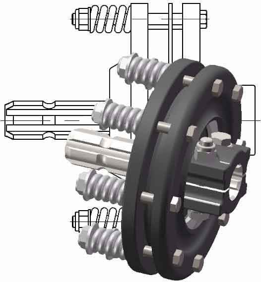 Муфта універсальна запобіжна для карданних валів (карданових) вітчизняної і зарубіжної с/х техніки