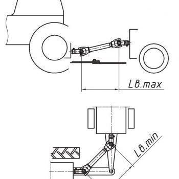 Розмір кардана на сільгосптехніці; підбір карданного валу для сільгосптехніки по довжині