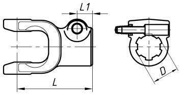 Кінцеві вилки серії T4, T5, Z5 під хрестовину 35х98 : ціна, розміри