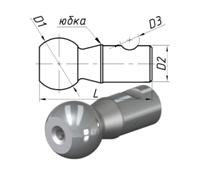 Палец шаровой наконечника рулевой тяги «ЗИЛ» Бычок без резьбы